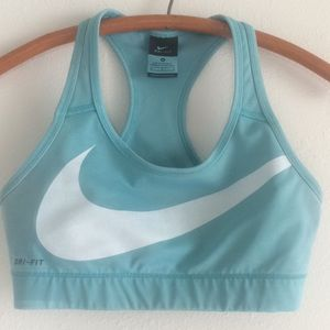 NIKE dri-fit Running sports bra top turquoise Med.